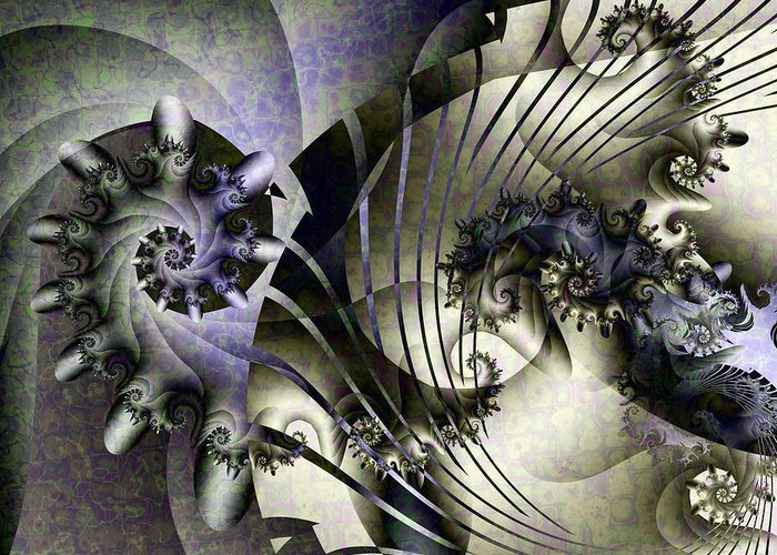 Fractal Greeting Card featuring the digital art David's Lyre by David April