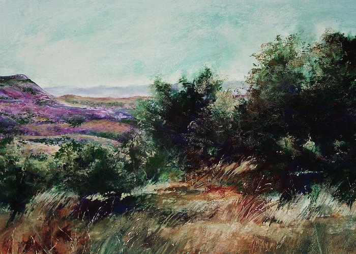 Pastel Greeting Card featuring the painting Davis Mountain by Marlene Gremillion