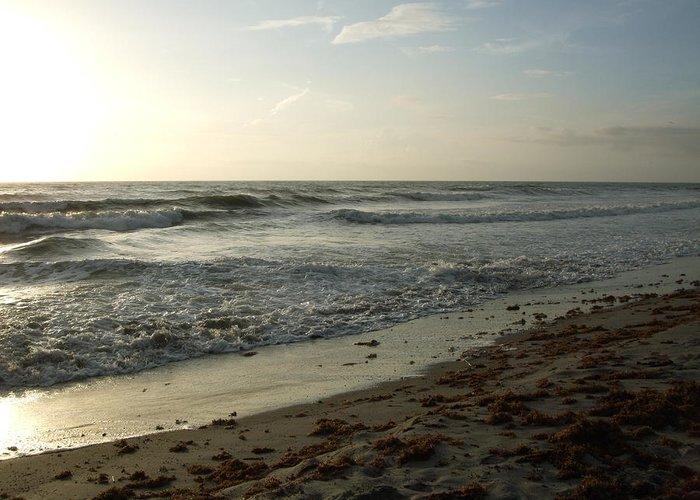 Surf Greeting Card featuring the photograph Dawn Beach by Terrisita Grant