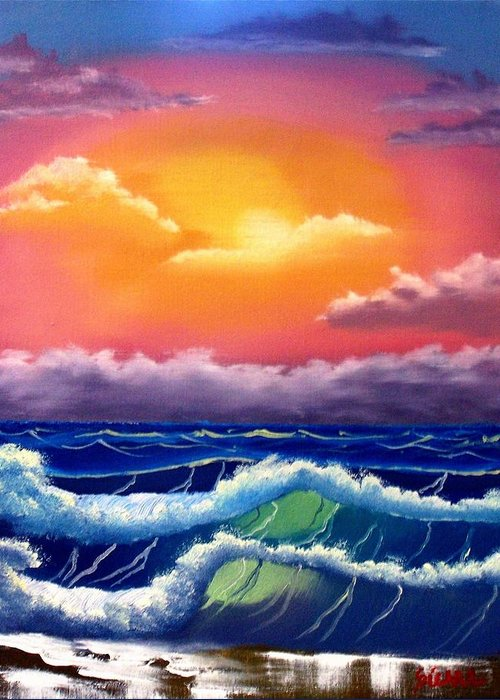 Dawn Greeting Card featuring the painting Dawn Breakers by Dina Sierra