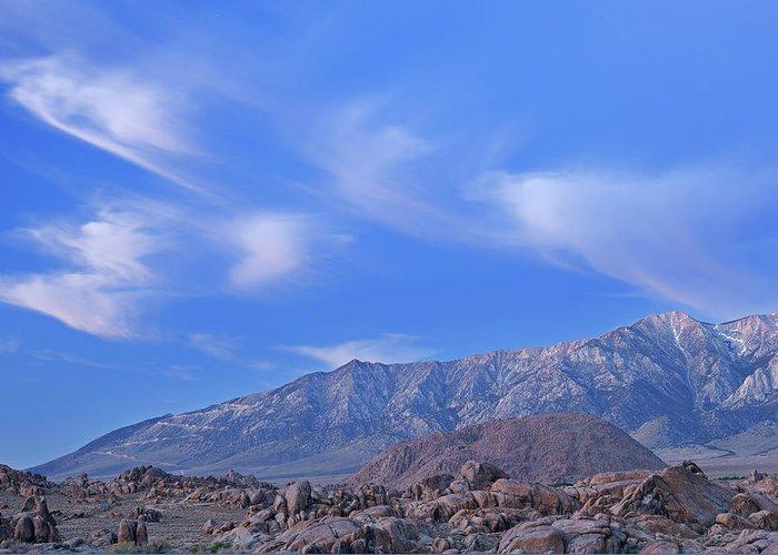 Alabama Greeting Card featuring the photograph Dawn Eastern Sierra Nevada Mountains by Dean Pennala