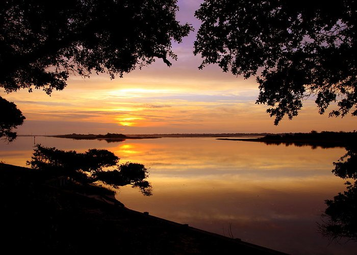 Sunsets Greeting Card featuring the photograph Dawn by Karen Wiles
