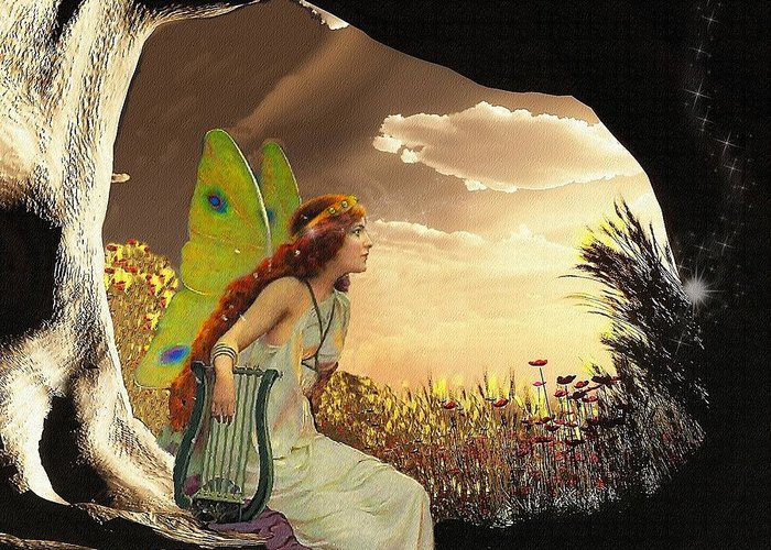 Fantasy Greeting Card featuring the digital art Dawn by Mary Morawska