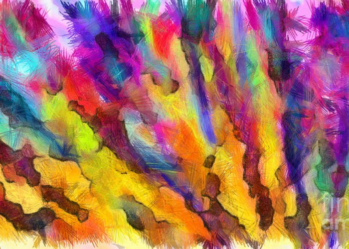 Colored Pencil Abstract Drawings Greeting Cards