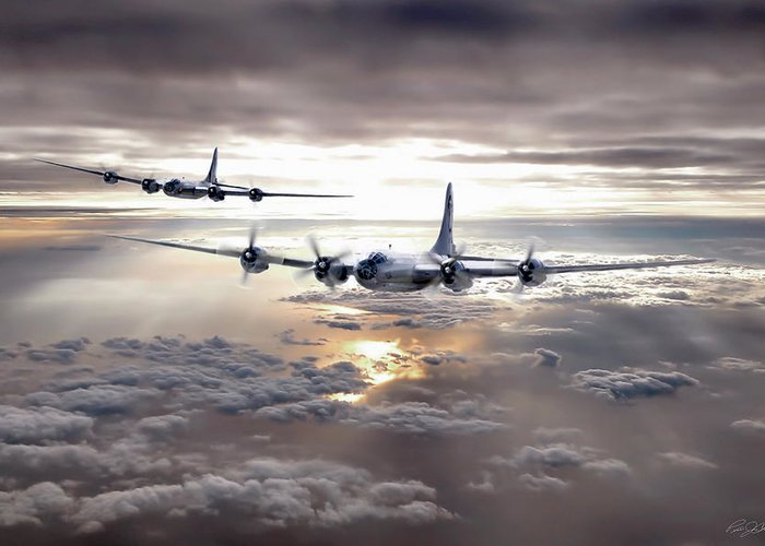 Aviation Greeting Card featuring the digital art Dawns Early Light by Peter Chilelli