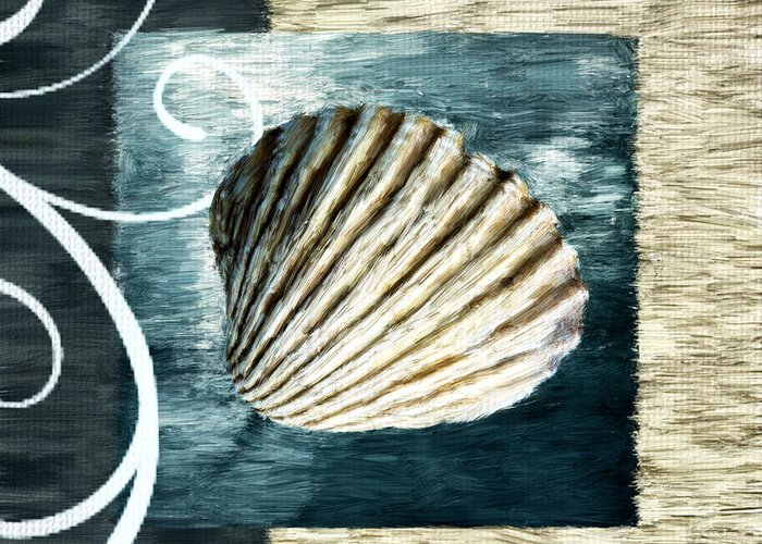 Seashell.seashells Greeting Card featuring the digital art Day At The Beach by Lourry Legarde