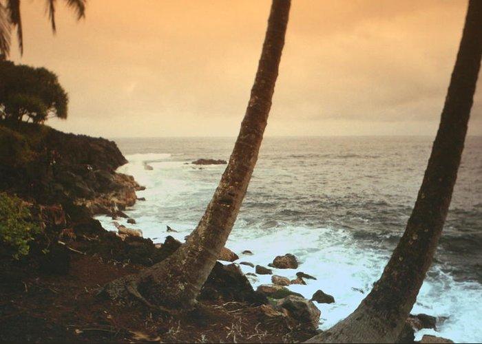 Beach Greeting Card featuring the photograph Day Break On Kauai by Diane Merkle