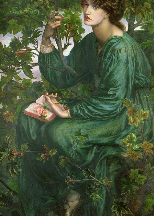 Portrait Greeting Card featuring the painting Day Dream by Dante Charles Gabriel Rossetti
