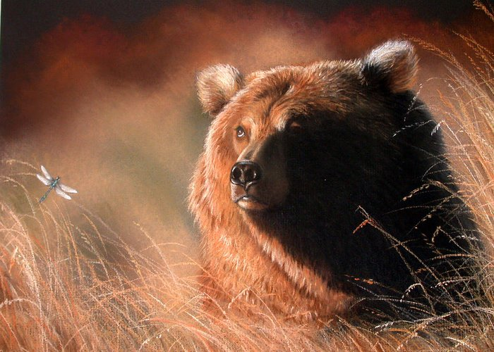 Wildlife Greeting Card featuring the painting Day Dream by Deb Owens-Lowe