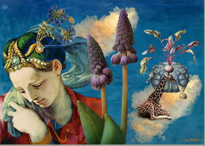 Dreamscape Greeting Card featuring the digital art Day Dreams by Laura Botsford