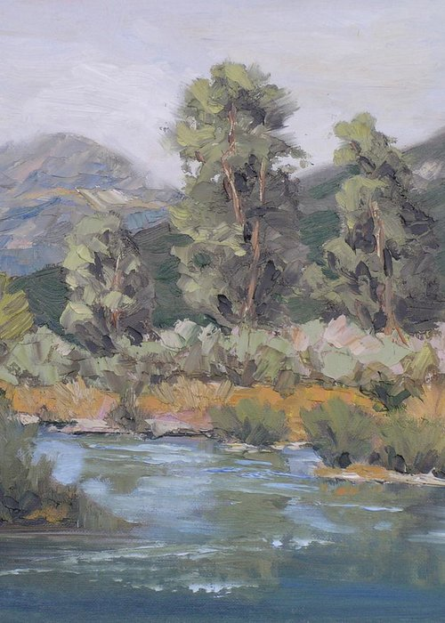 Yampa Greeting Card featuring the painting Day On The Yampa by Barrett Edwards