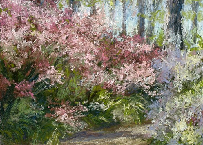 Azalea Garden Greeting Card featuring the painting Daydream by L Diane Johnson