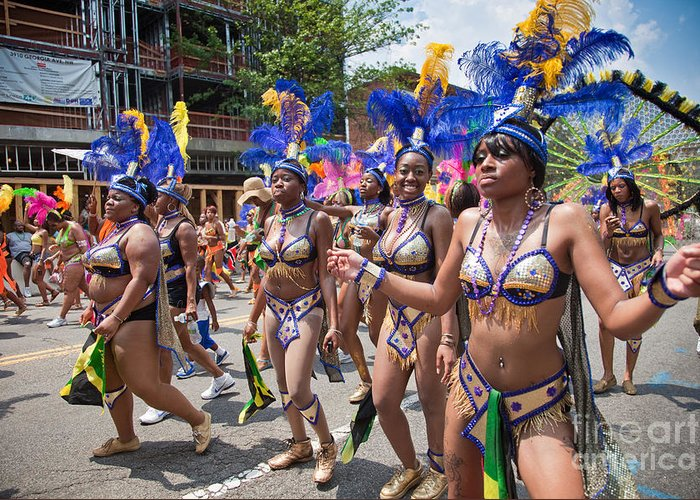Festival Greeting Card featuring the photograph Dc Caribbean Carnival No 10 by Irene Abdou