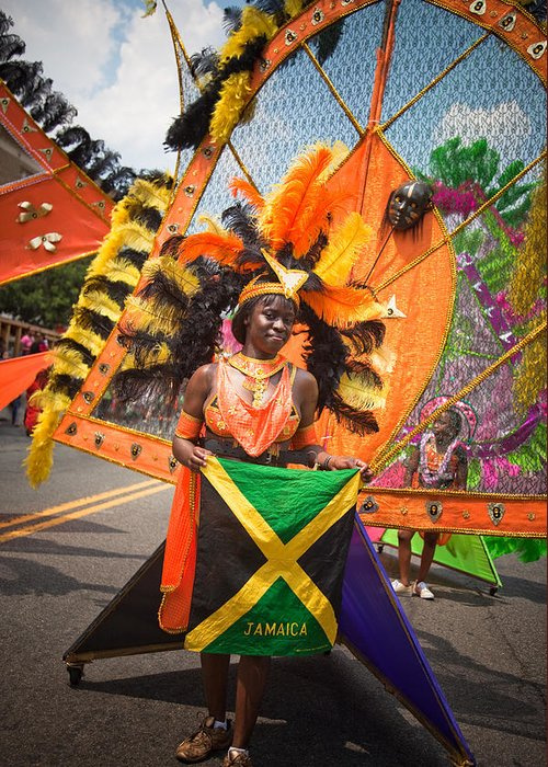 Festival Greeting Card featuring the photograph Dc Caribbean Carnival No 13 by Irene Abdou