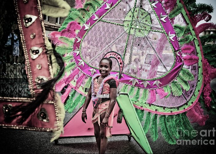 Festival Greeting Card featuring the photograph Dc Caribbean Carnival No 14 by Irene Abdou
