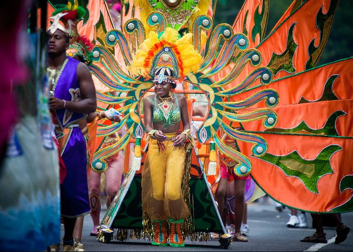 Festival Greeting Card featuring the photograph Dc Caribbean Carnival No 15 by Irene Abdou
