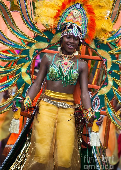 Festival Greeting Card featuring the photograph Dc Caribbean Carnival No 16 by Irene Abdou