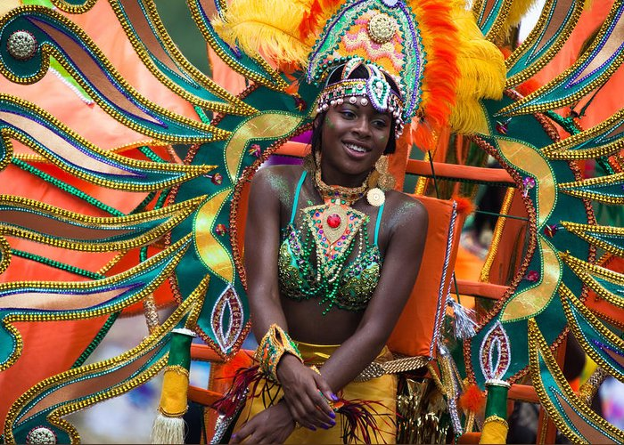 Festival Greeting Card featuring the photograph Dc Caribbean Carnival No 17 by Irene Abdou