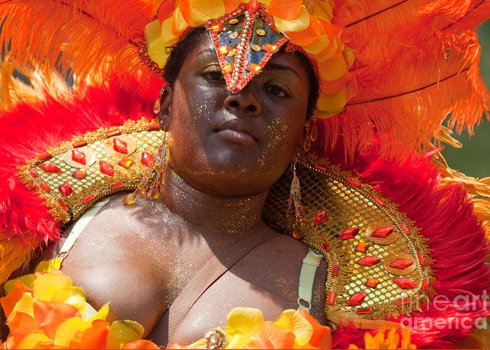 Festival Greeting Card featuring the photograph Dc Caribbean Carnival No 22 by Irene Abdou