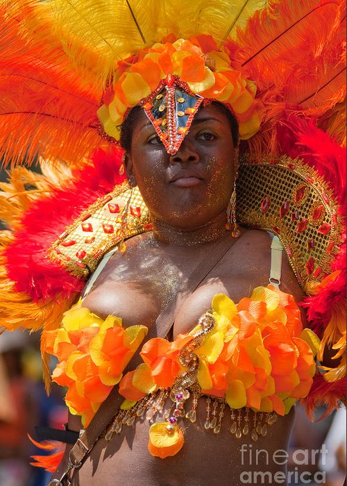 Festival Greeting Card featuring the photograph Dc Caribbean Carnival No 23 by Irene Abdou