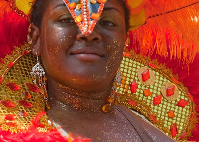 Festival Greeting Card featuring the photograph Dc Caribbean Carnival No 24 by Irene Abdou