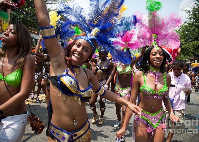 Festival Greeting Card featuring the photograph Dc Caribbean Carnival No 8 by Irene Abdou