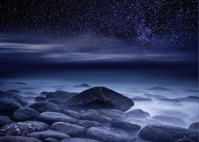 Night Greeting Card featuring the photograph De Profundis by Jorge Maia