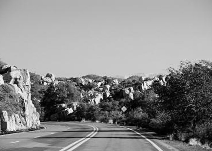 Southwest Greeting Card featuring the photograph Dead End Curve by Kevin Igo