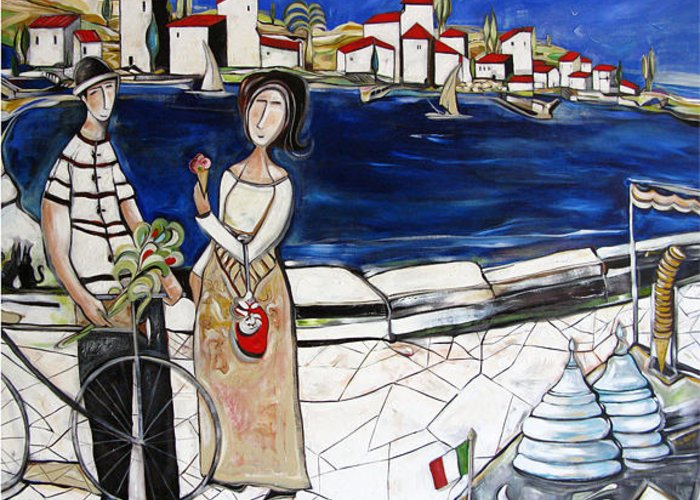 Italy Greeting Card featuring the painting Dear This Is For You by Michele Righetti
