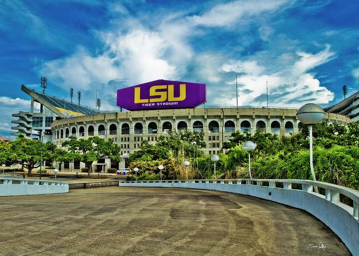 Lsu Greeting Card featuring the photograph Death Valley by Scott Pellegrin