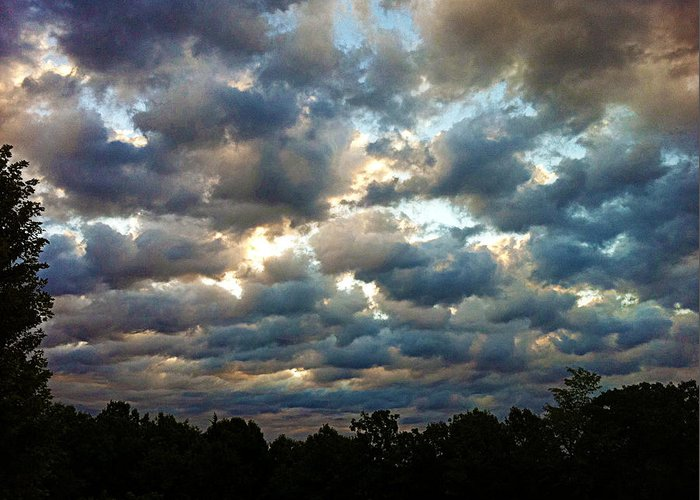 Clouds Greeting Card featuring the photograph Deceptive Clouds by Cricket Hackmann