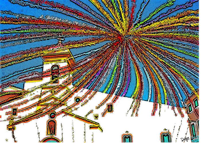 Greeting Card featuring the photograph Decked Out For Fiesta by Dee Flouton