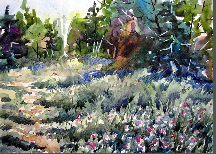 Watercolor Greeting Card featuring the painting Deep In Clover by Chito Gonzaga