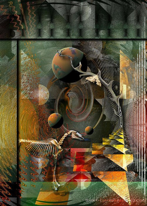 Psychology Greeting Card featuring the digital art Deep Soul Journey by Mimulux patricia no No