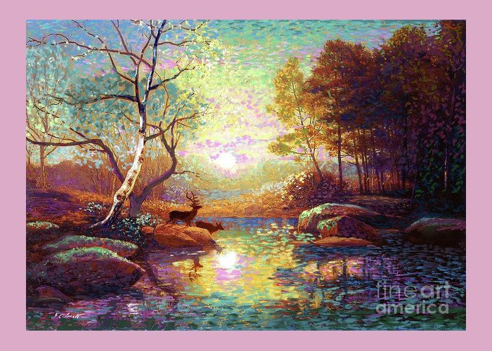 Multi Colored Paintings Greeting Cards
