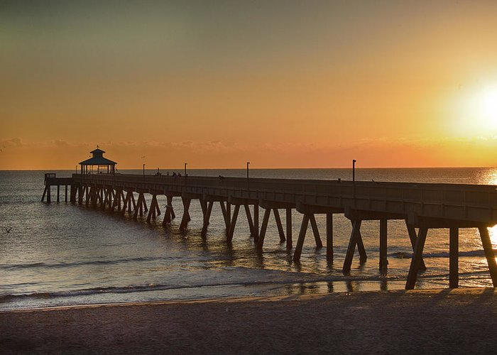 Pier Greeting Card featuring the photograph Deerfield Pier Sr by Joel P Black