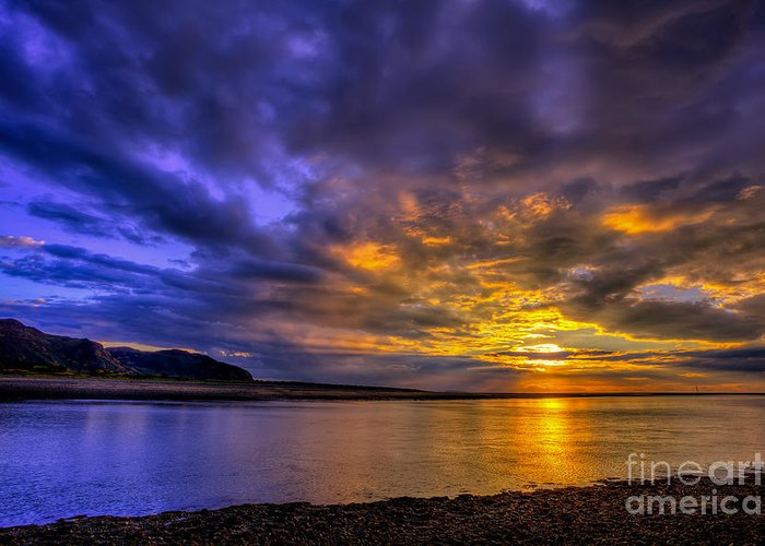 Sunset Greeting Card featuring the photograph Deganwy Sunset by Adrian Evans
