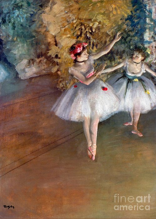 1877 Greeting Card featuring the photograph Degas: Dancers, C1877 by Granger
