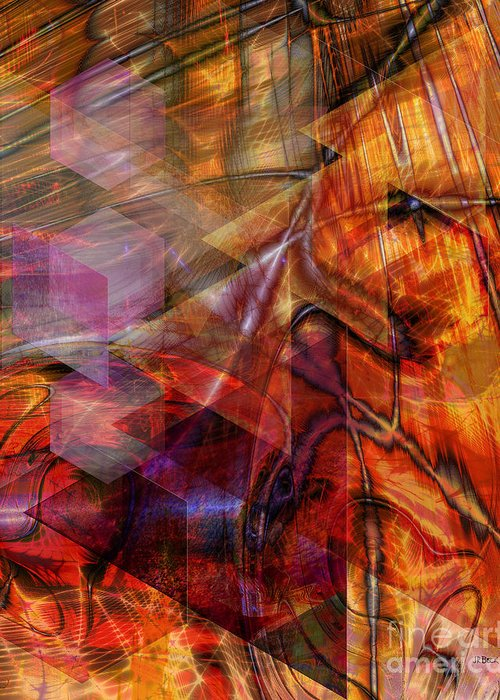 Deguello Sunrise Greeting Card featuring the digital art Deguello Sunrise by John Beck