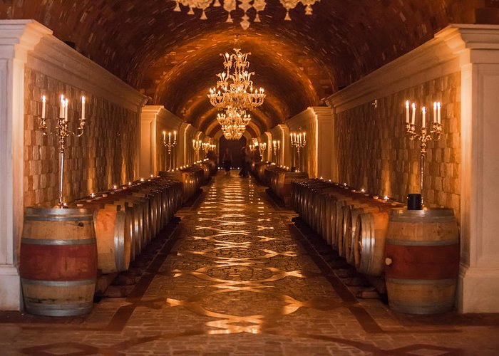 Winery Greeting Card featuring the photograph Del Dotto Wine Cellar by Scott Campbell