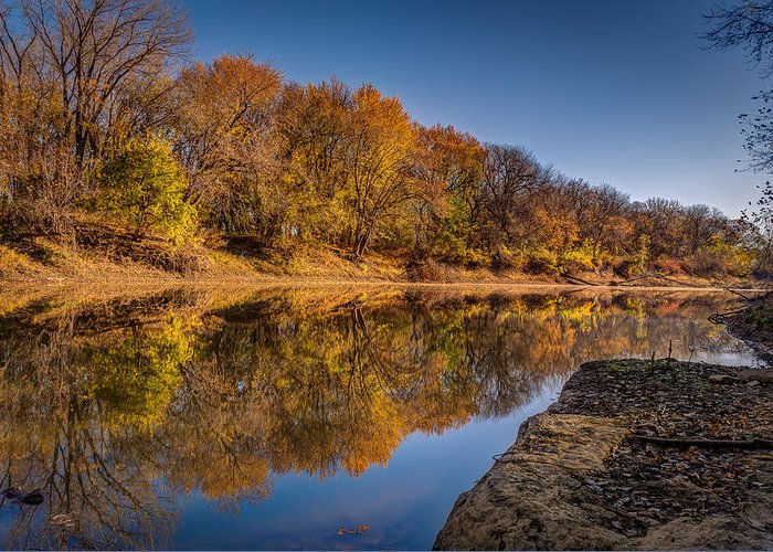 Landscape Greeting Card featuring the photograph Delaware River by Mark McDaniel