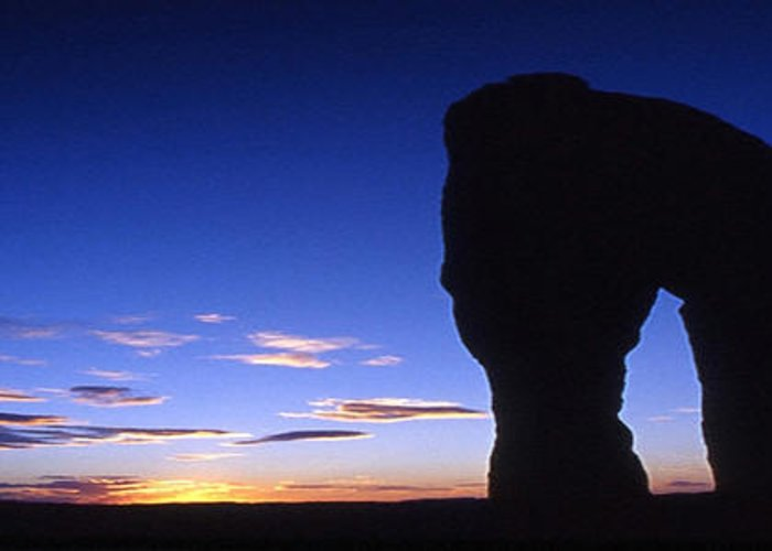 Delicate Arch Greeting Card featuring the photograph Delicate Arch At Dusk Panoramic by Sven Brogren