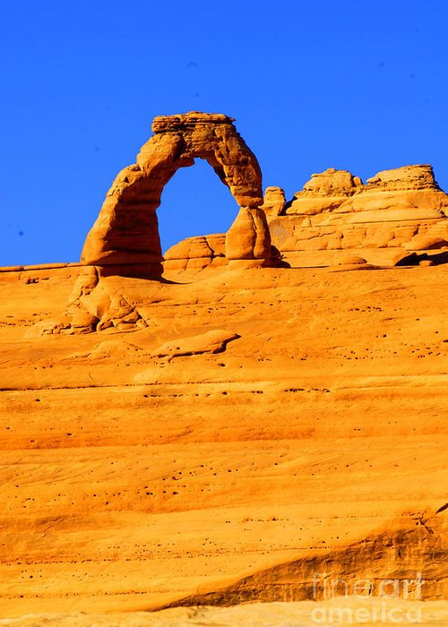Arches Greeting Card featuring the photograph Delicate Arch by Dennis Hammer