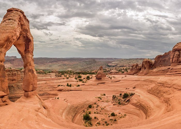 3scape Greeting Card featuring the photograph Delicate Arch Panoramic by Adam Romanowicz
