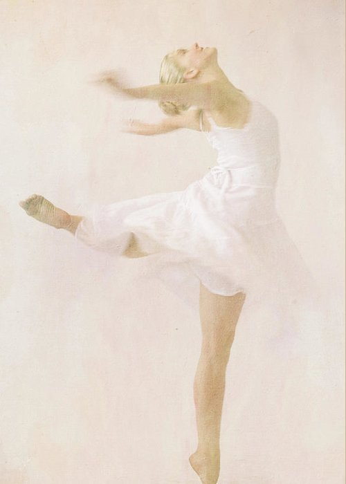 Ballerina Greeting Card featuring the photograph Delicate Beauty by Aaron Gil