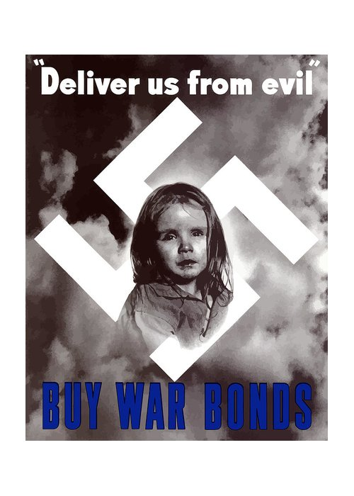 Ww2 Greeting Card featuring the painting Deliver Us From Evil by War Is Hell Store