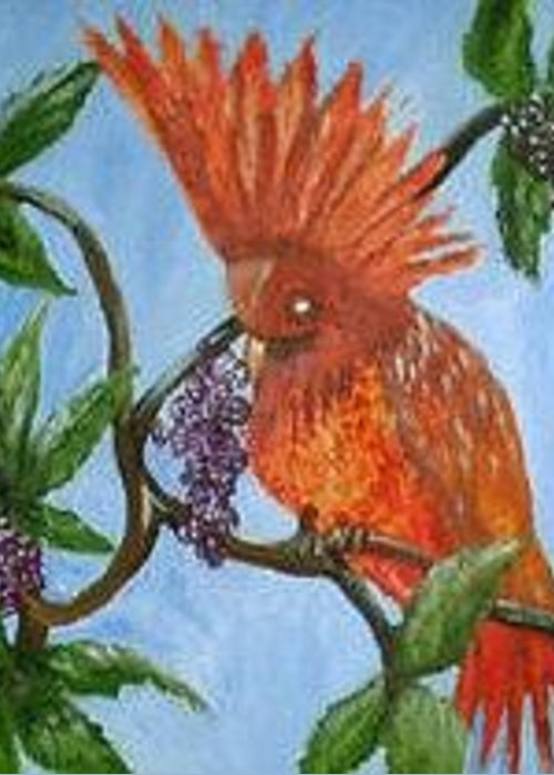 Birds Greeting Card featuring the painting Delta Mansion by Betty Abrams