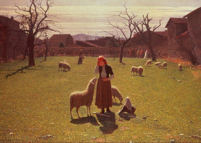 Deluded Greeting Card featuring the painting Deluded Hopes by Giuseppe Pellizza da Volpedo