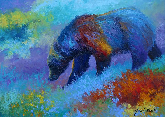 Western Greeting Card featuring the painting Denali Grizzly Bear by Marion Rose