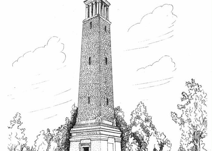 Denney Chimes Greeting Card featuring the drawing Denney Chimes by Barney Hedrick
